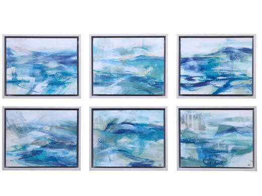 Coast Series  ​Acrylic on Aquabord each 23 x 28cm (Available)    One of these paintings is heading to Art of Sydney 2020.